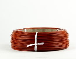 Espagueti fibra de vidrio con silicona rojo 50 mt 18 mm