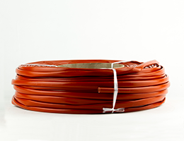 Espagueti fibra de vidrio con silicona rojo 100 mt 5 mm